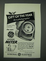 1948 General Electric DW-58 Exposure Meter Ad - Gift of The Year - $14.99