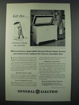 1948 General Electric Home Freezer Ad - Lift This - $14.99