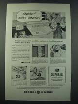 1948 General Electric Disposall Garbage Disposer Ad - Garbage? What's Ga... - $14.99