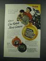 1949 Kodak Cine-Kodak Magazine 8, Magazine 16 and Reliant Cameras Ad - $14.99