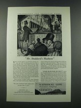 1949 National Life Insurance Company Ad - Mr. Stoddard's Madness - $14.99