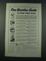 1949 New York Tourism Ad - $14.99