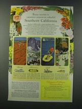 1949 Southern California Tourism Ad - Every Season is Colorful - $14.99