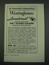 1960 ALD, Inc. Westinghouse laundromat Ad - Be Financially Independent - $14.99