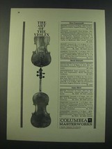 1960 Columbia Masterworks Ad - The Art of the Violin - $14.99