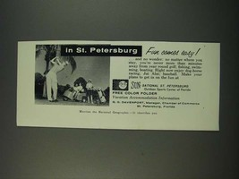 1960 St. Petersburg Florida Ad - Fun Comes Easy - $14.99