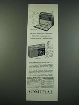 1961 Admiral 9-Band All World Y909 and 3-Band Clipper Y2137 Radios Ad - $14.99