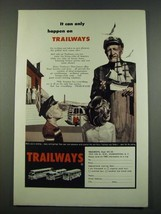 1960 Trailways Bus Ad - It Can Only Happen on Trailways - $14.99