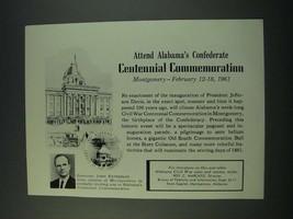 1961 Alabama Tourism Ad - Governor John Patterson - $14.99