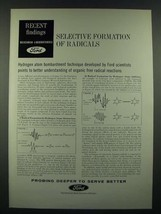 1966 Ford Motor Company Ad - Selective Formation of Radicals - $14.99