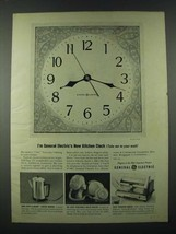 1963 General Electric Ad - Kitchen Clock, Peek-a-brew Coffee Maker, Toast-R-Oven - $14.99