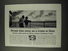 1965 Grace Caribbean Cruise Ad - Dream Time Away on a Cruise to Haiti - $14.99
