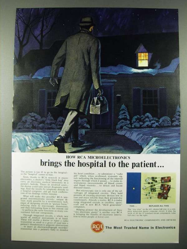 1965 RCA Electronic Components and Devices Ad - Bring the Hospital to Patient