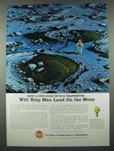 1965 RCA Electronic Components and Devices Ad - Help Man Land on the Moon - $14.99