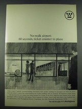 1965 Westinghouse Transit System Ad - No-Walk Airport - $14.99