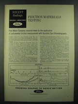 1966 Ford Motor Company Ad - Friction Materials Testing - $14.99