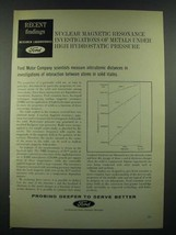 1966 Ford Motor Company Ad - Nuclear Magnetic Resonance - $14.99