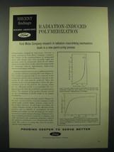 1966 Ford Motor Company Ad - Radiation-Induced Polymerization - $14.99