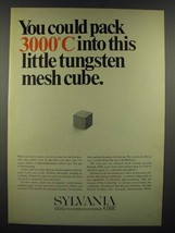 1966 GT&E Sylvania Chemical & Mettallurgical Division Ad - Tungsten Mesh... - $14.99