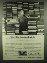 1966 GT&E Sylvania Electronic Systems for Education Ad - Knowledge Explo... - $14.99