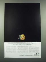 1966 GT&E Sylvania TV Ad - Color Tube Brightened the Whole Picture - $14.99