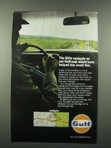 1966 Gulf Oil Ad - The Little Squiggle on Our Gulf Map - $14.99