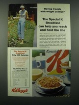 1966 Kellogg's Special K cereal Ad - Weight Control - $14.99