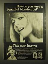 1967 Clairol Shampoo Ad - Keep a Beautiful Blonde True - $14.99