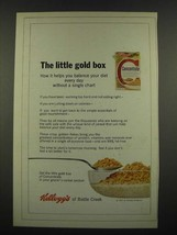 1967 Kellogg's Concentrate Cereal Ad - The Little Gold Box - $14.99