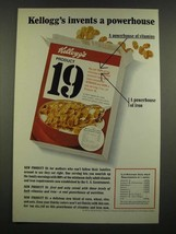 1967 Kellogg's Product 19 Cereal Ad - Invents a Powerhouse - $14.99