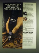1985 Black & Decker Precision Power High Speed Rotary Tool Ad - $14.99