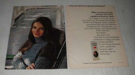 1970 Clairol Loving Care Hair Color Lotion Ad - Gorgeous Brunette - $14.99