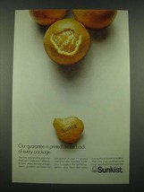 1970 Sunkist Oranges Ad - Our Guarantee is Printed on the Back - $14.99