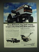 1985 Sears Craftsman Tractor and Rear-Tine Tiller Ad - Plow, till, thatc... - $14.99