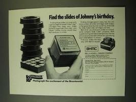 1975 BHMC Bell & Howell / Mamiya Company Slide Cube Ad - $14.99