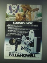 1977 Bell & Howell Filmosonic Cameras and Projectors Ad - Sound's Easy - $14.99