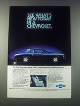 1977 Chevrolet Monte Carlo Ad - See What's New Today - $14.99