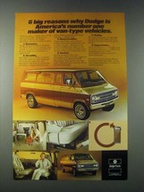 1977 Dodge Sportsman Van Ad - 6 Big Reasons - $14.99