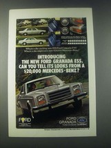 1978 Ford Granada ESS Ad - Can You Tell It's Looks From a Mercedes-Benz? - $14.99