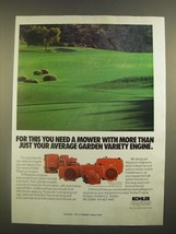 1988 Kohler Engines Ad - More Than Average Garden Variety - $14.99