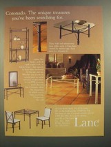 1988 Lane Coronado Tables Ad - The Unique Treasures You've Been Searching For - $14.99