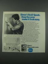 1979 Borden Elmer's Redi-Spack Ad - Pros Make it Look Easy - $14.99