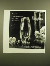 1988 Neiman Marcus Baccarat Crystal Buttercup Vase Ad - $14.99