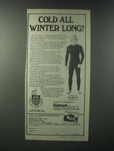 1979 Damart Thermolactyl Underweear Ad - Cold all Winter Long? - $14.99