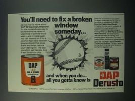 1979 DAP Ad - 33 Glazing Compound, Derusto Protective Coating - $14.99