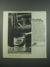 1979 Deft Clear Wood Finish Ad - Put a Friend on Your Brush - $14.99