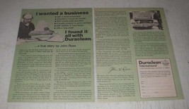 1979 Duraclean International Ad - I Wanted a Business - $14.99