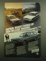 1980 Datsun 210 Sports Wagon, 510 Family Wagon and 810 Luxury Wagon Ad - $14.99