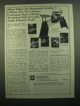 1980 Shopsmith Mark V Woodworking System Ad - For Serious Craftsman - $14.99