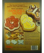 1980 Wilton Fancifill Pans Ad - Butterfly, Petal and Double Heart - $14.99